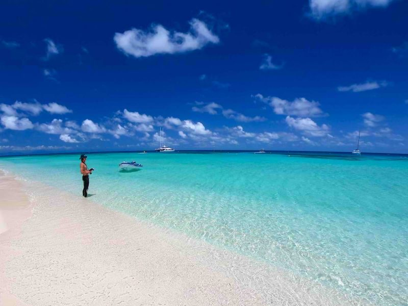 Michaelmas Cay seashore