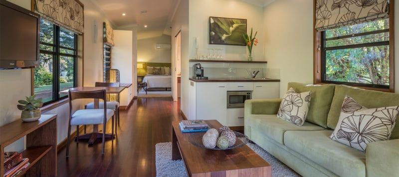 luxury falls villa living room