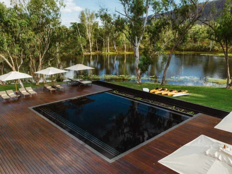 pool view by the lake - mount mulligan