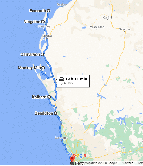 Exmouth to Perth